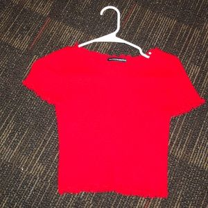 Brandy Melville red ribbed t shirt